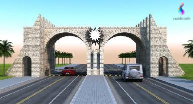 Rayedarên Kurdistanê beşek ji diravdana çêkirina deriyê têketinê bo perestgeha pîroz a Laleşa Êzidiyan veqetandine