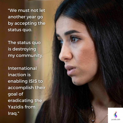 There is no sustainable future for Yazidis and minorities in Iraq and Kurdistan as the genocide continues